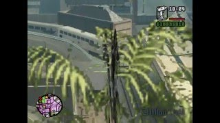 GTA SA - Haut vitesse en train = accident...(non mortel dans gta sa)