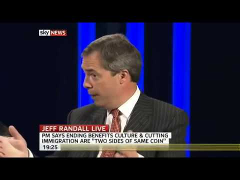 Sky News   UKIP Nigel Farage on UK immigration 14 Apr 2011