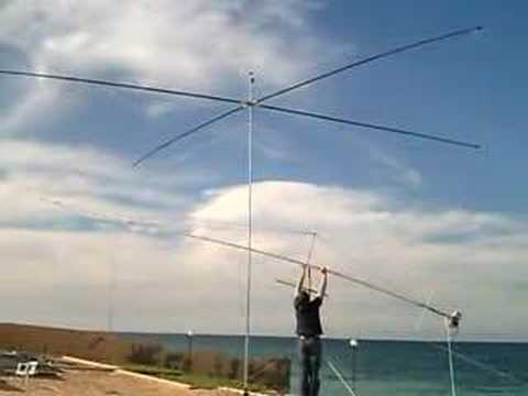 5A7A - Frank, DL8YHR adjusting the Yagi for EME
