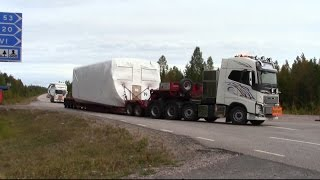 Volvo FH16 750hp 8x4 - FH16 580hp 6x4 - Scania R480 6x4 - Transport of NORDEX windmill parts