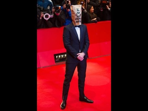 Shia LaBeouf Walks Red Carpet With Bag Over his Head