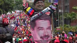 Venezuela: Government supporters march in Caracas