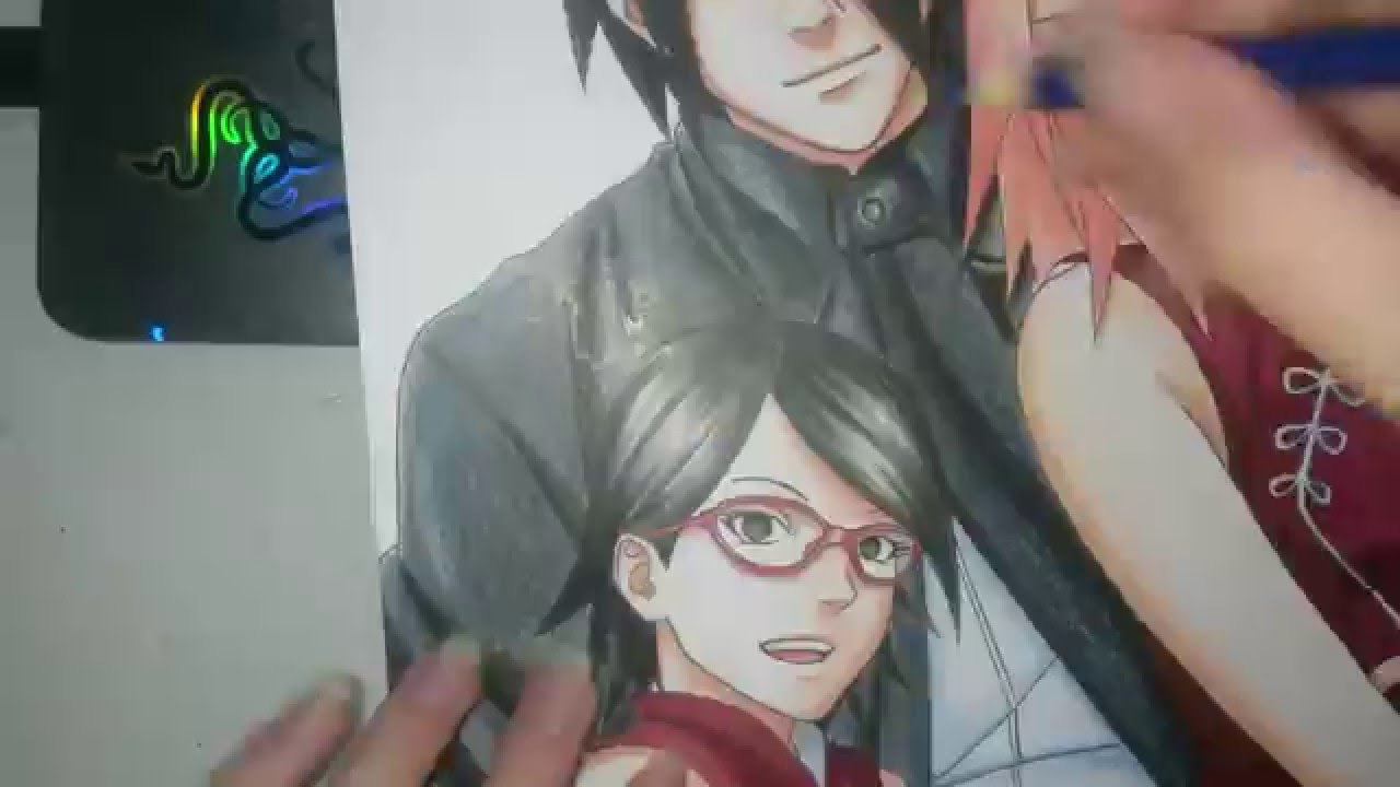 Youtube Family Drawing Speed Drawing Uchiha Family
