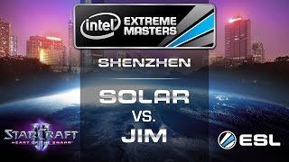 Solar vs. Jim - ZvP - Semifinals - IEM Shenzhen - StarCraft 2