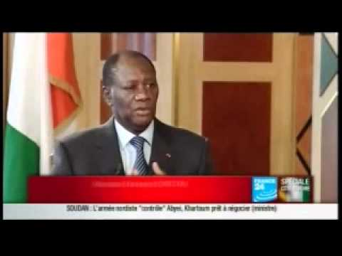 Interview d'Alassane OUATTARA sur France 24 au lendemain de son investiture a Yamoussoukro