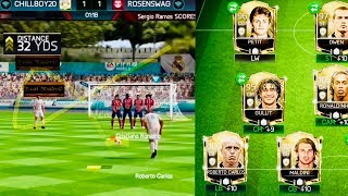 ROBERTO CARLOS FREE KICKS /PENALTIES STYLE in fifa mobile- icons Gameplay Review/Goals Compilation