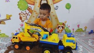 ĐỒ CHƠI Ô TÔ MÁY XÚC TO  CỦA TUẤN MINH _  Excavator toy -  TOYS BABY