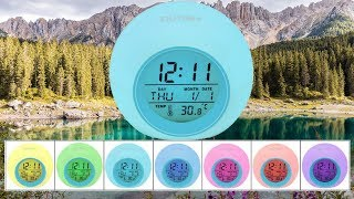 Digital Color Changing Nature Sound with Temperature Alarm Clock By OUTWIT