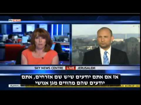 "Bennett to Skynews: ""When buses exploded in London, they gave out candies in Gaza"""