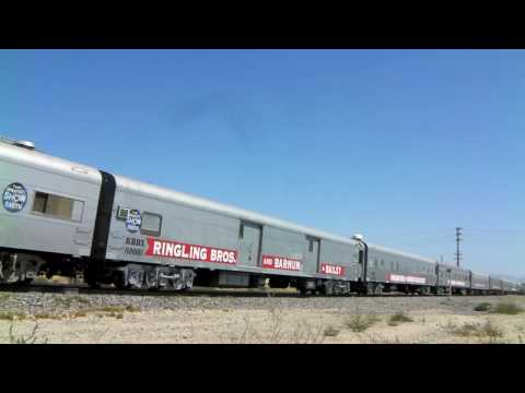 Ringling Bros Circus Train in Lancaster, CA - 8/9/10