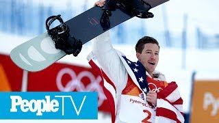 Shaun White Cries Tears Of Joy As He Wins Record-Breaking 3rd Olympic Gold In Halfpipe  PeopleTV
