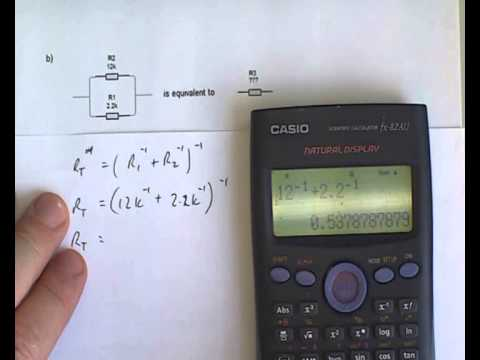 calculating series and parallel resistances