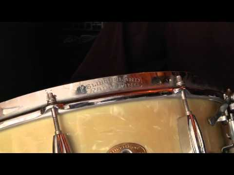 Slingerland Radio King 1955 WMP Vintage Snare Drum - History and Sound Demo