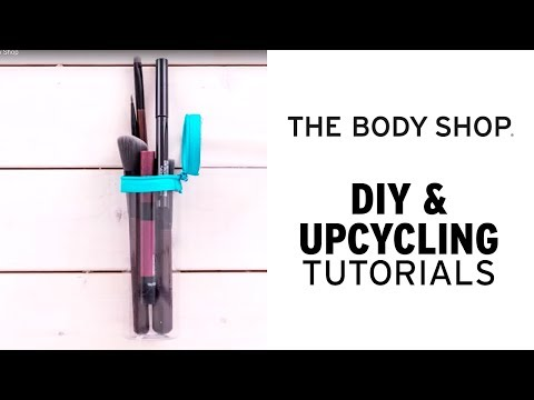 DIY Make-Up Brush Case | The Body Shop UAE Beauty Upcycling Hacks