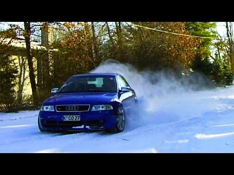 Audi S4 biturbo quattro (Frankenturbos) - AWD Launch control, drift, donuts, and fun in the snow!
