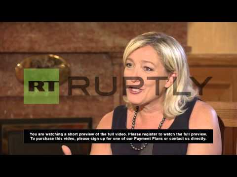 Russia: Euro killed French economy, Marine Le Pen