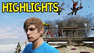 GTA 5 Funny Moments! Online Gameplay Highlights from Team43 Event (GTA V)