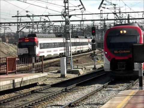 De trenes en F. Mora, Atocha Cercanías y Villaverde Bajo
