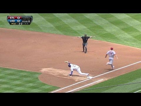 Matt Carpenter singles on a ground ball to second baseman Mark Ellis.
