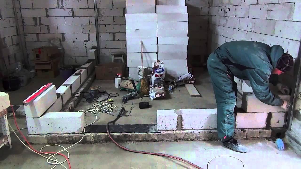 Как сделать перегородку из блоков своими 332