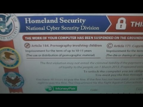 Homeland Security Moneypak Virus Removal Using System Restore