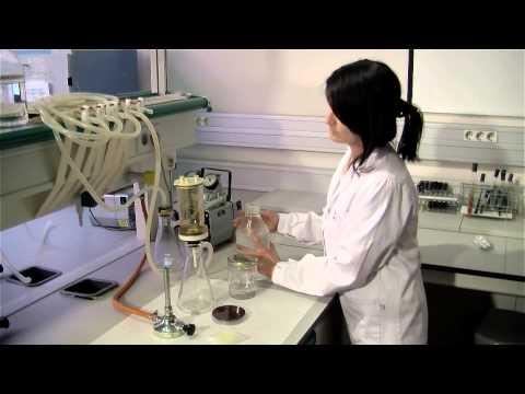 Análisis microbiológico de aguas mediante filtración