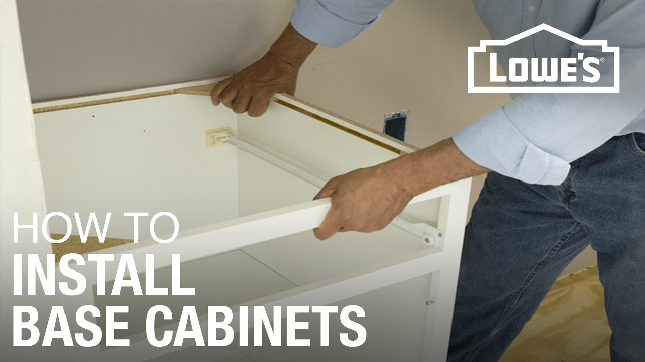 How To Install Base Cabinets YouTube