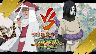 Naruto Ninja STORM Revolution™ Costume DLC Hiruzen Sarutobi Hokage vs Orochimaru GAMEPLAY Fight!