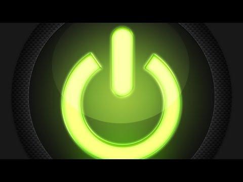 Photoshop: Carbon Fiber Power Button