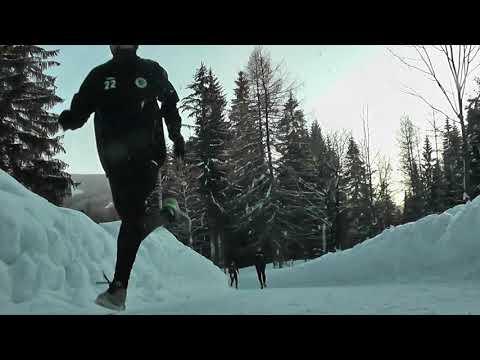 Běžecké tréninky Votroků na zimním soustředění