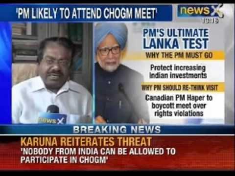 DMK leader M. Karunanidhi warns Prime minister against attending CHOGM - News X
