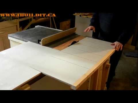 Homemade Table Saw Sliding Table Demo