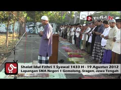 Shalat Idul Fitri 1 Syawal 1433 H - Imam Ustadz Marzuki (Pengajar Ma'had Imam Bukhari Solo)