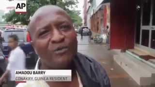 Guinea Ebola Man In Street N'Shit