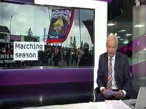 Orange Order Parade & Northern Ireland Riots 2012 - TV NEWS