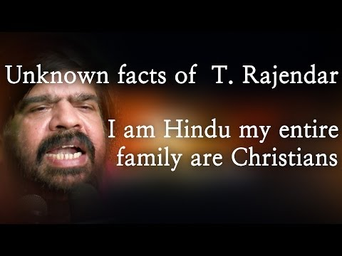 Unknown Facts Of  T. Rajendar. I Am Hindu My Entire Family Are Christians - Red Pix 24x7 video