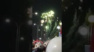 Bắn pháo hoa mừng bến tre lên đô thị loại 2