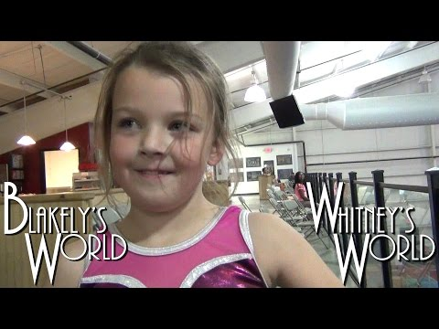 Whitney and Blakely do Aerials and Cartwheels on the Balance Beam