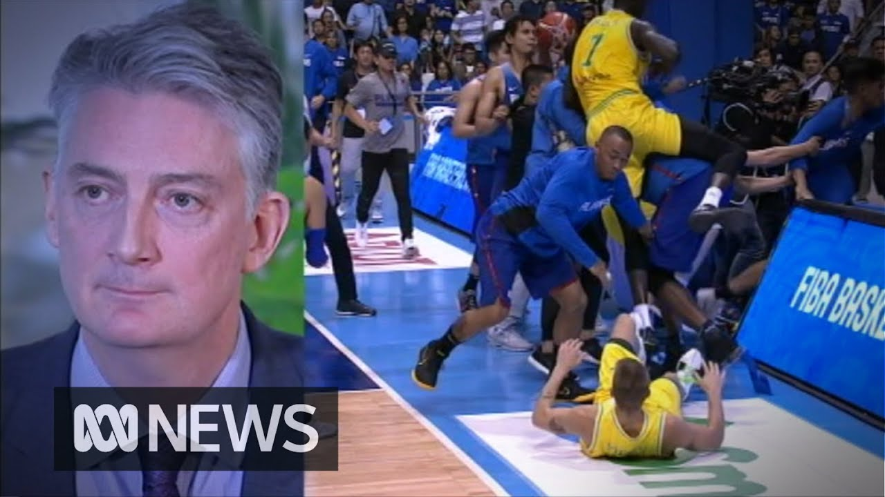 'Sickening' all-in brawl sees Boomers-Philippines basketball match abandoned