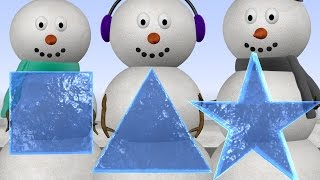 Learn Shapes with Snowmen - Shapes Lesson for Kids