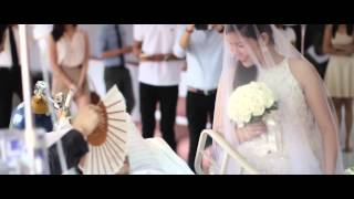පිළිකාවකින් පීඩා විඳි පෙම්වතා මියයාමට මොහොතකට  A Wedding That Will Move You: Rowden & Leizel