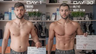 AMAZING 30 DAYS VEGAN TRANSFORMATION | EXTREME FAT LOSS HOME QUARANTINE CHALLENGE