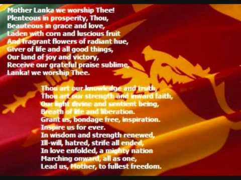 National Anthem of Sri Lanka Namo Namo Matha