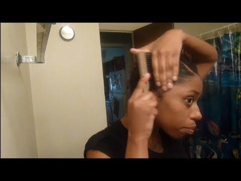 How I prep my TWA for a quick weave