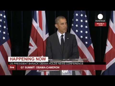 G7: Obama and Cameron joint speech (recorded live feed)