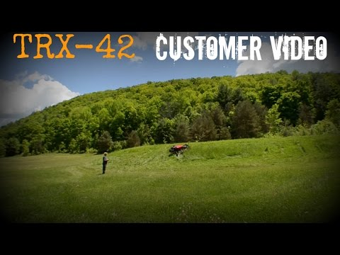 Customer Video TRX-42 Remote Control Slope Mower Review