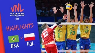 BRAZIL vs. POLAND - Highlights Men | Final Round | Volleyball Nations League 2019