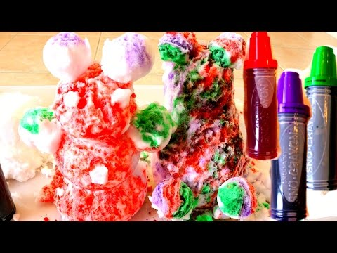 Coloring Snow Figures with Snow Markers Rainbow Snow Balls|B2cutecupcakes
