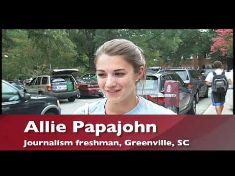 Move-in day at the University of South Carolina