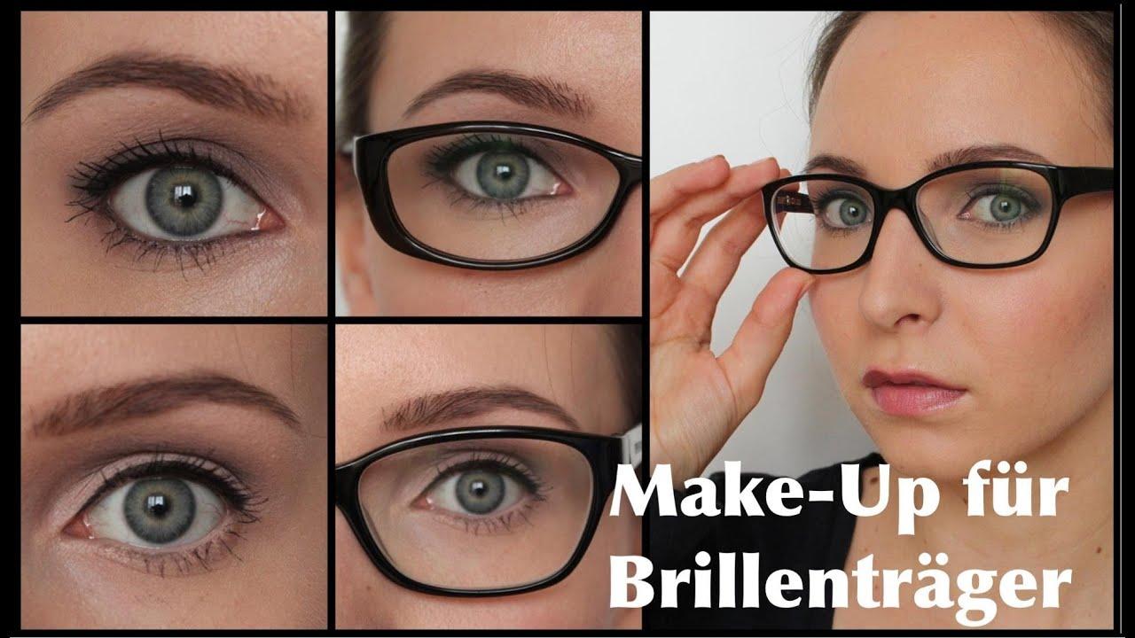 make up f r brillentr ger augen gr er kleiner schminken. Black Bedroom Furniture Sets. Home Design Ideas